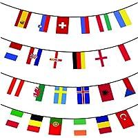 Euro 2016 Calcio Bandierine - Tutti nazione 24 Bandiere - 10m enorme - Game Party Pin