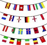 Euro 2016 Calcio Bandierine - Tutti nazione 24 Bandiere - 10m enorme