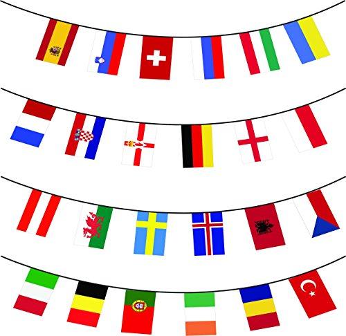 Euro 2016 Bandera Bunting Los 24 Naciones enorme 10m