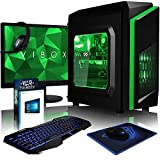 VIBOX FX-71 - Ordenador de sobremesa gaming (USB, Intel Core i5, RAM de 8 GB, disco duro de 1 TB, 3.0 GHz, Windows 10 Home) color verde