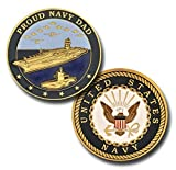 Best Dad Coins - Proud Navy Dad Challenge Coin Review