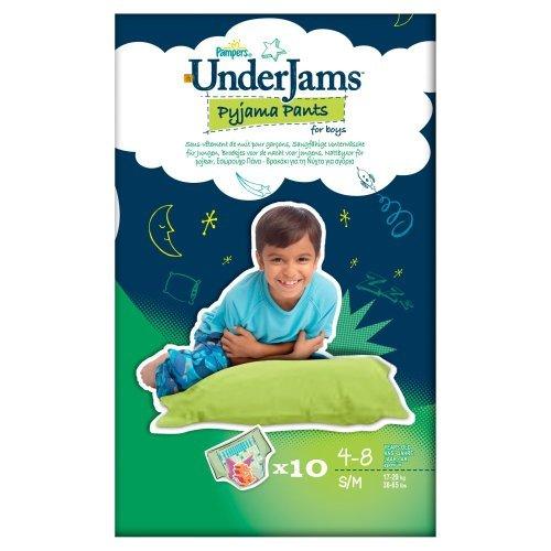 Pampers UnderJams für Boys, S/M (17-29kg), 40 Stück