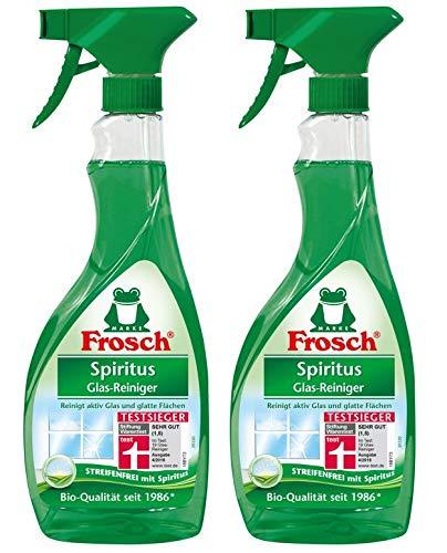 Frosch Spiritus Glas Reiniger Sprühflasche, 2er Pack (2 x 500 ml)