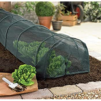 FLEECE NET COVER GROWING PATCH 3M GROW LONG TUNNEL CLOCHE PLANTS VEGETABLES NEW