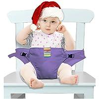 Il viaggio portatile della sedia della sede del ripetitore del bambino di alta lavabile con cinghie di sicurezza del bambino di cablaggio di alimentazione del bambino la cinghia (6 colori)