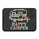 Best Shampooers Rug - uykjuykj Soft Colorful Happy Camper Bath Mat Coral Review