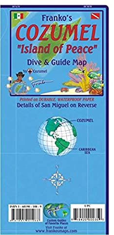 Franko Map Cozumel Dive Map: Activity Guides of Favorite Things to See and Do, Waterproof