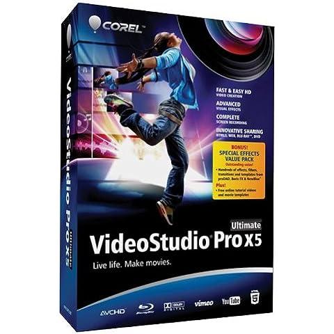 Corel VideoStudio Pro X5 Ultimate, x32, WIN, 1u, CD, ENG - Software de video (x32, WIN, 1u, CD, ENG, Intel Core Duo/AMD Dual-Core, PC, VGA 1024 x 768 px DVD-ROM, Windows 7 Windows Vista Windows XP SP3+,