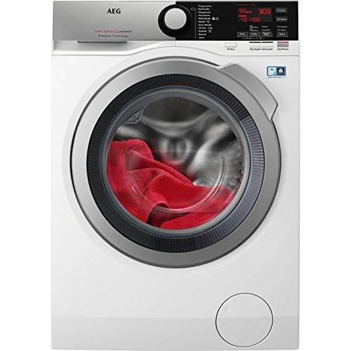 AEG L7FE76495 Waschmaschine Frontlader / sparsamer Waschautomat mit Mengenautomatik / Energieklasse A+++ (152 kWh/Jahr) / 9 kg XXL ProTex Schontrommel, ideal für feine Textilien / Dampfprogramm für weniger Bügelaufwand / weiß