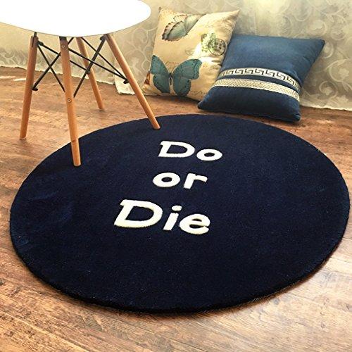 Good thing Teppich Britischen Retro runden Teppich handgefertigten Acryl verdickten Wohnzimmer Schlafzimmer Computer Stuhl Decke ( Farbe : B , größe : 70*70cm ) -