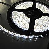 UEETEK SMD 3528 LED Streifen mit Pure White - 5M wasserdicht 12V