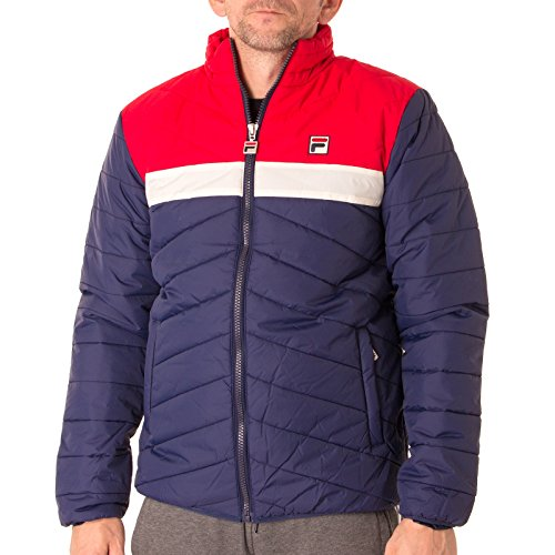 "FILA VINTAGE Piselli Puffa Jacket | Peacoat Large 40"" Chest"