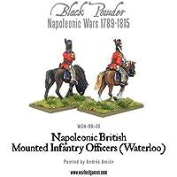 Les officiers d'infanterie à cheval Waterloo