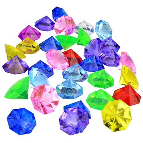 Jmkcoz Deko Diamanten 35 Stück Acryl-Steine Bunte Strass-Steine Hochzeit Tischdeko Bunt Gltzersteine Deko (32mm bunt)