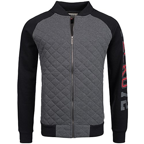 ecko-unltd-iveco-zip-quilt-giacca-da-uomo-grigio-scuro-grigio-scuro-l