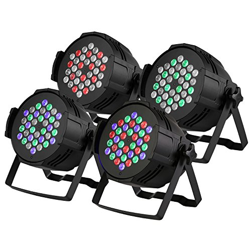 Light-36 (Mophorn Bühnenbeleuchtung 4PCS 36X3W Bühnenlicht LED Par Licht Stage Light DMX512 Stage RGB Licht für Geburtstag party Hochzeit KTV Zimmer Bar Bühne Karaoke (4PCS 36X3W))