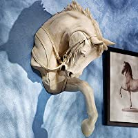 Design Toscano Thoroughbred Horse Wall Sculpture, Polyresin, Ancient Ivory, 68.5 cm by Design Toscano