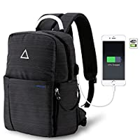 Forspark Camera Backpack, Anti-Shock DSLR Backpack - Multi-Function -Waterproof for Laptops Tablets Canon Nikon Camera Accessories Bag with Waterproof Rain Cover (Black)