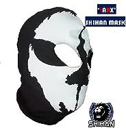 'LARX' 2 Hole, Wool Zorro Ninja, Fancy Dress Costume 1 Size Senior,Balaclava Ghost Skull Face Mask Bik