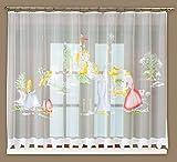 Fertiggardine Kinder Gardine Jacquard Voile weiß Kräuselband 160cm x 300cm