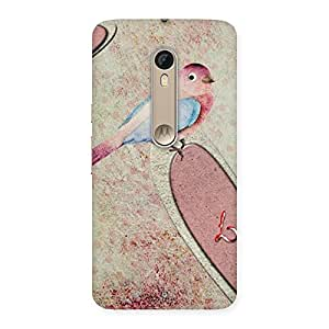 Bird Heart Drawing Back Case Cover for Motorola Moto X Style