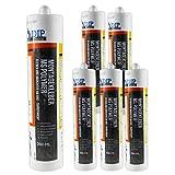 DIP-Tools Montagekleber - Geruchsarmer und Wasserfester Universal Montage Kleber für Innen & Außen - transparent (6, 290ml)
