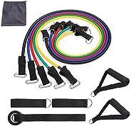 CLHCilihu Oefening Resistance Bands Kit, 11 Stks Thuis Multi Gym Set,5 TPE Fitness Tubes, Handgrepen, Deur Anker, Enkelbande