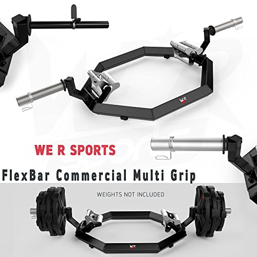 We R Sports® Commercial Multi Grip Super Hex Trap Bar Dead Lift & mit Bar