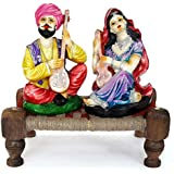 Tied Ribbons&Reg; Rajasthani Couple Idols | Home Decor Items In Living Room | Showpiece & Gifts