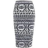 : Ladies Leopard Stripes Skull Bones Prints High Waist Wiggle Tube Womens Stretched Bodycon Pencil Midi Evening Cocktail Skirt Plus Sizes