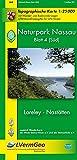 Naturpark Nassau /Loreley, Nastätten (WR): Naturparkkarte 1:25000 mit Wander- und Radwanderwegen mit Verlauf des Rheinsteigs (Freizeitkarten Rheinland-Pfalz 1:15000 /1:25000)