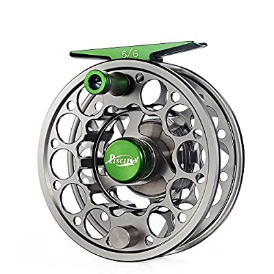Piscifun Sword Fly Fishing Reels 3 / 4wt 5 / 6wt 7 / 8wt 9 / 10wt Fly Reel with CNC-machined Aluminum Alloy Body (Gunmetal / Black / Gold ) by Piscifun