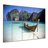 "Bilderdepot24 Keilrahmenbild ""Maya Bay, Koh Phi Phi Ley - Thailand"" - 180x120 cm 4 teilig - fertig gerahmt, direkt vom Hersteller"