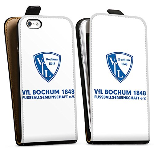 Apple iPhone X Silikon Hülle Case Schutzhülle VfL Bochum Fanartikel Bundesliga Downflip Tasche schwarz