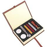 ONEVER Kit de timbres de cachet de cire rétro | Insigne d'école de magie | Cuillère à cire | Coffret cadeau