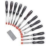 VonHaus, set professionale di 10 o 12 scalpelli per legno