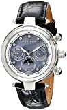 Akribos XXIV Damen-Armbanduhr Automatik Leder Schwarz Chronograph