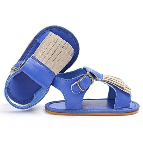 Culater® Baby neonato neonato in morbida pelle solare scarpe bambino ragazza prewalker 0-18M Blu