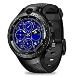 SZPZC-A Smart Watch 1.4'Aomled Pantalla GPS 16Gb 5.0Mp + 5.0Mp Cámara Dual Reloj Android Reloj para Hombres Reloj Inteligente,A