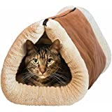 Pets Empire Deluxe 2 In 1 Tube Cat/Puppy Mat & Bed With Self-Heating Thermal Core Furniture & Carpet 1 Piece Color May Vary