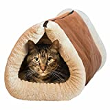 MAXCARE Deluxe 2 in 1 Tube Cat Mat and Bed, Large Pet Bed with Self-heating Thermal Core Furniture&Carpets Fur-free Warm House for Cat / Puppy, Plush Pet Accessories