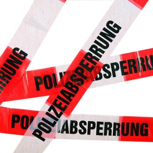 * POLIZEI * für Kindergeburtstag und Motto-Party // Absperrung Deko Dekoration (Polizei Absperrband)