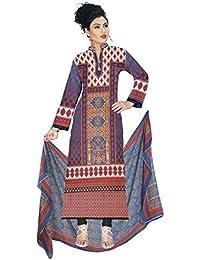 BalajiWomen's Cotton Unstitched dress material(1009-multicolor-free size)