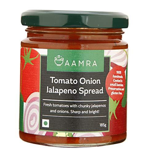Aamra Homemade Tomato Onion Jalapeno Spread 185gm (Salsa-Style dip)