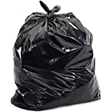 Generic Plastic Dustbin Bags (20x26-inch, Black) - Pack of 50