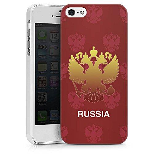 Apple iPhone X Silikon Hülle Case Schutzhülle Russland EM Trikot Fußball Europameisterschaft Hard Case weiß
