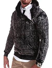 MT Styles pull avec capuche Side-Zip style vintage S-202