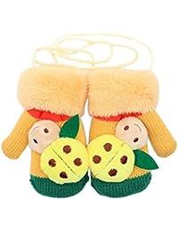 Samgu Invierno Niña Niño Baby Ladybug Guantes Calientes Manoplas Para Los Niños