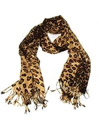 Schal Tuch in Leopardendesign Beige-Braun-Schwarz Leopard Tiger