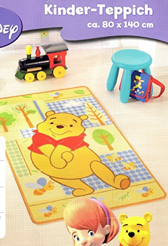 Disney Winnie Pooh Kinder Teppich Spiel Kinderzimmer Spielteppich ca. 80 x 140 cm -